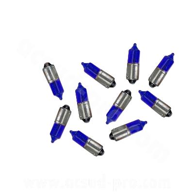 AMPOULE CLIGNOTANT BA9S T8,5 12V 23W BLEU   *