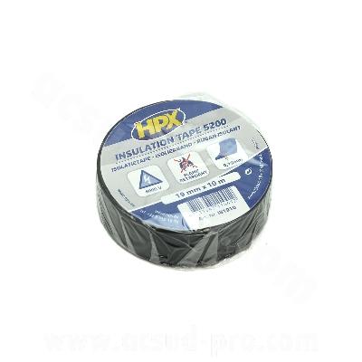 ROULEAU ADHESIF  NOIR 10 METRES ISOLANT PVC 19MM  (X1 PCS)