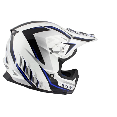 CASQUE CROSS NOEND DEFCON 5 WHITE/BLUE TX696 XL