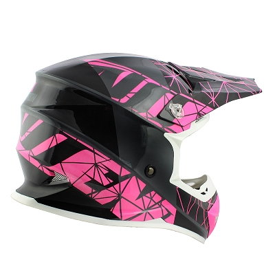 CASQUE CROSS NOEND ORIGAMI GLOSSY PINK SC15  XL