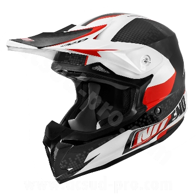CASQUE CROSS NOEND DEFCON BY OCD WHITE/RED TX696     S