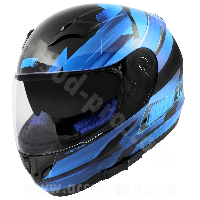 CASQUE INTEGRAL NOEND RACE BY OCD BLUE SA36 DOUBLE VISIERE    M
