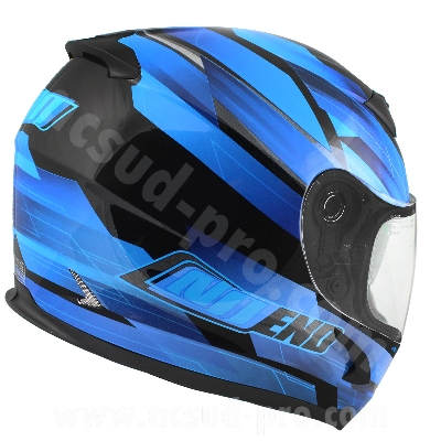 CASQUE INTEGRAL NOEND RACE BY OCD BLUE SA36 DOUBLE VISIERE   L