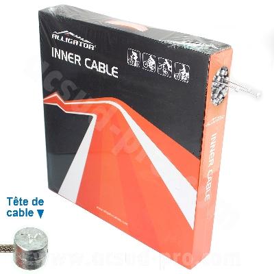 CABLE DE FREIN VELO VTT ACIER INOXYDABLE WTP 1.75M (BOITE DE 100)