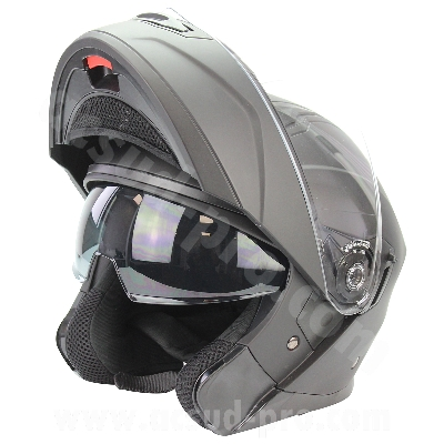 CASQUE MODULABLE NOEND DISTRICT DOUBLE VISIERE NOIR BRILLANT   L