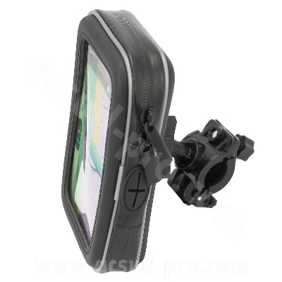SUPPORT UNIVERSEL IMPERMEABLE POUR SMARTPHONE  / GPS ADAPT SCOOTER / MOTO ( FIXATION GUIDON )