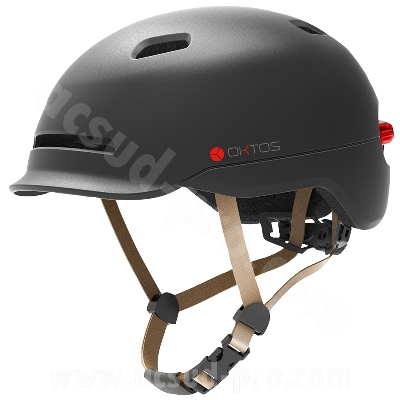 CASQUE VELO ADULTE OKTOS LUX COULEUR ANTHRACITE T.M/L (57-61CM)